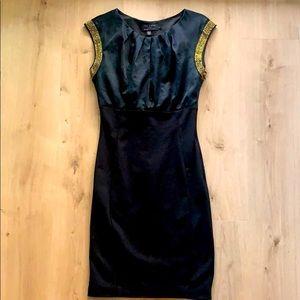Ted Baker Black Dress w Gold details